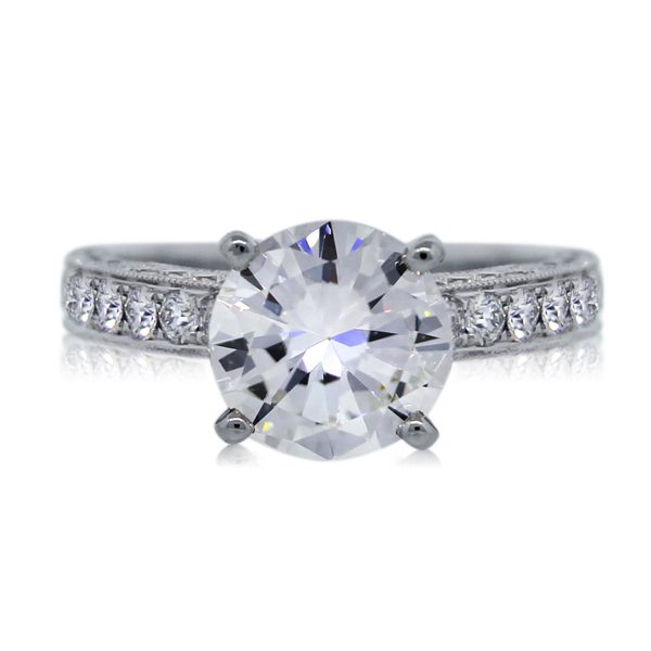 View This 14k White Gold 1.54ct Round Brilliant Engagement Ring Today!