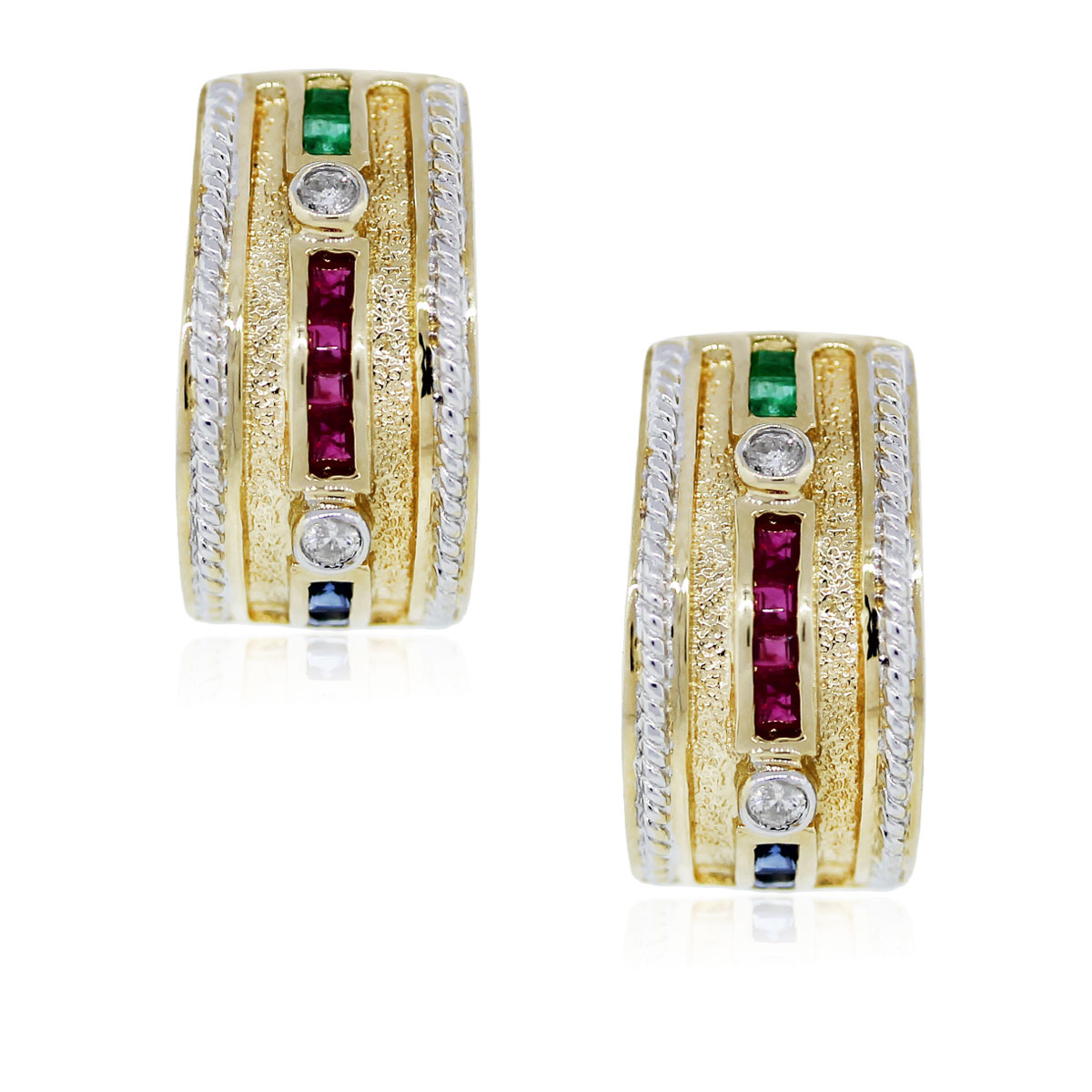 You are Viewing These Gorgeous Precious Gemstone and Diamond Earrings!!