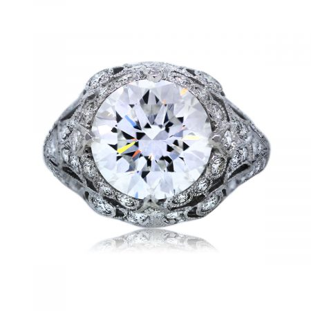 Get The Look: Gorgeous 3.80Ct Round Brilliant Engagement Ring