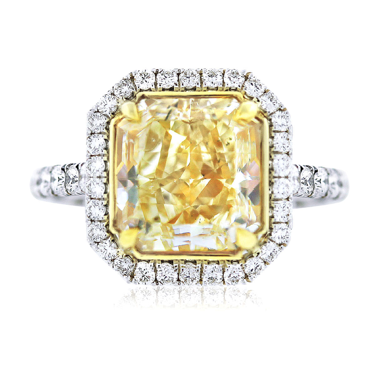 Engagement Rings Boca Raton Fancy Yellow Radiant Cut