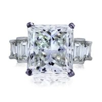 Platinum 6.05ct Radiant Cut Diamond Engagement Ring