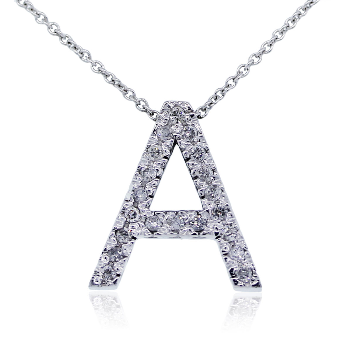 You are viewing this white gold letter 'A' pendant!!