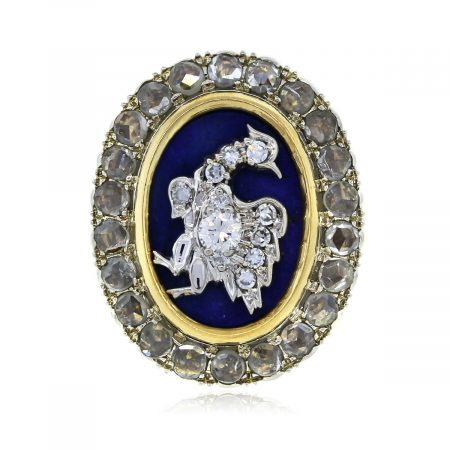 You are Viewing this Diamond and Lapis Zolotas Ring!