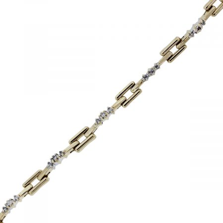 You are viewing this yellow gold and diamond tennis bracelet!!