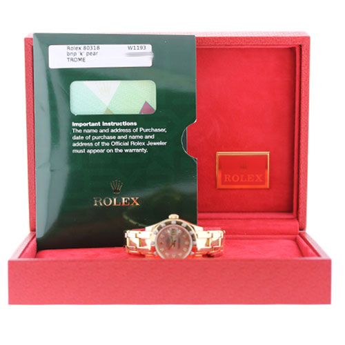 Rolex DateJust 80318 Mother of Pearl Diamond Bezel/Dial Ladies Watch box and papers