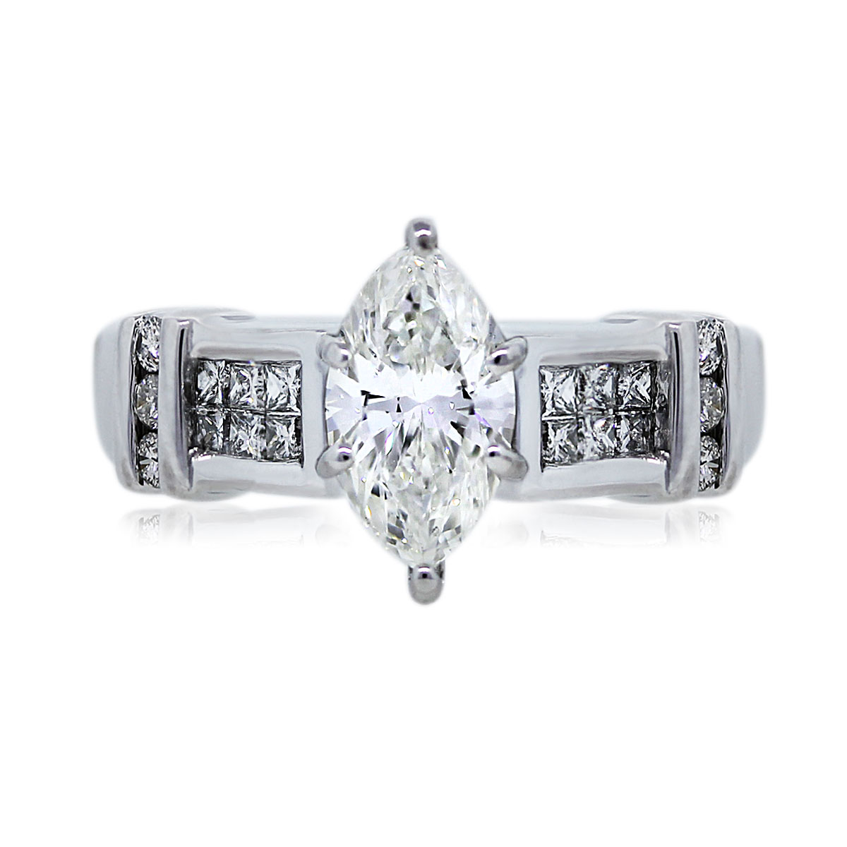 View This Stunning GIA Certified 1.11ct Marquise Cut Engagement Ring!
