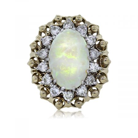 View This Beautiful Opal and Diamond Cocktail Ring!!