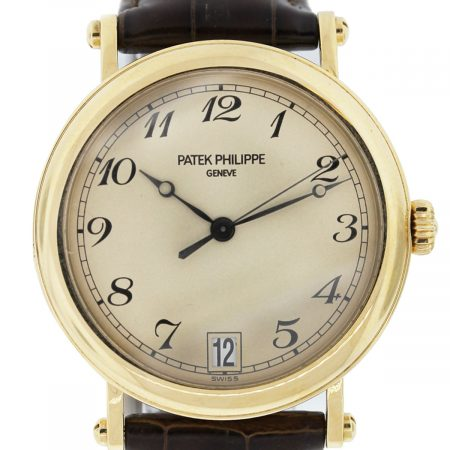 Patek Philippe Arch 5053 Champagne Dial w/ Brown Leather Strap