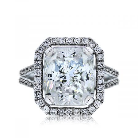 You are Viewing this 5.04ct Radiant Cut Diamond Ring!