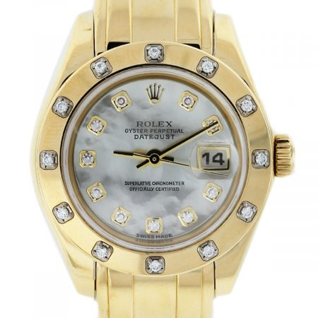 Rolex Pearlmaster 80318 Diamond Dial/Bezel Watch