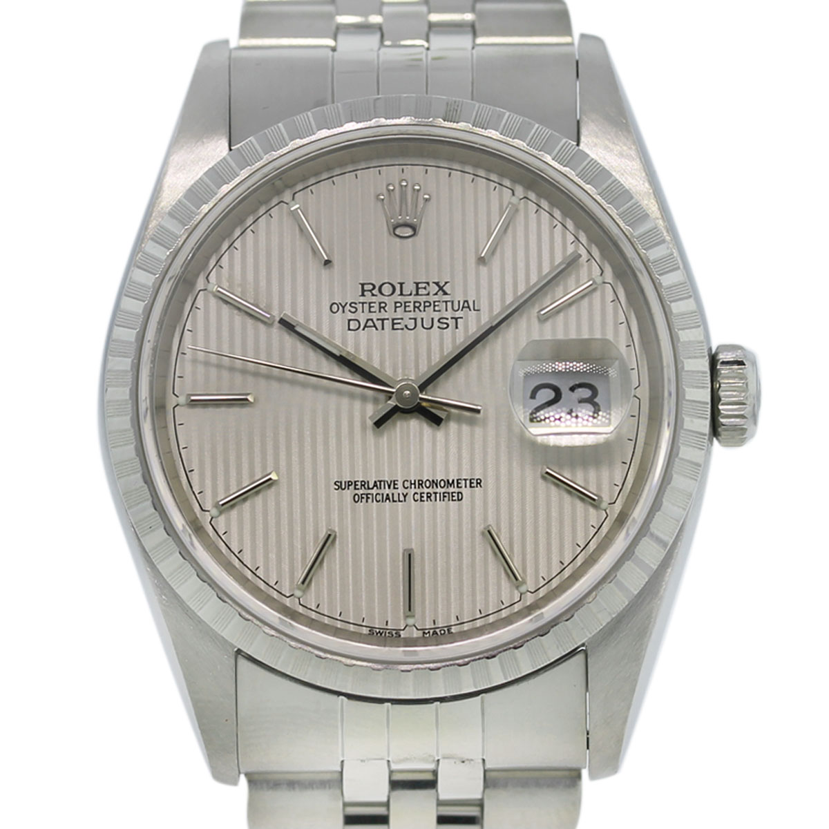 Rolex DateJust 16220 Stainless Steel Tapestry Dial Jubilee Watch