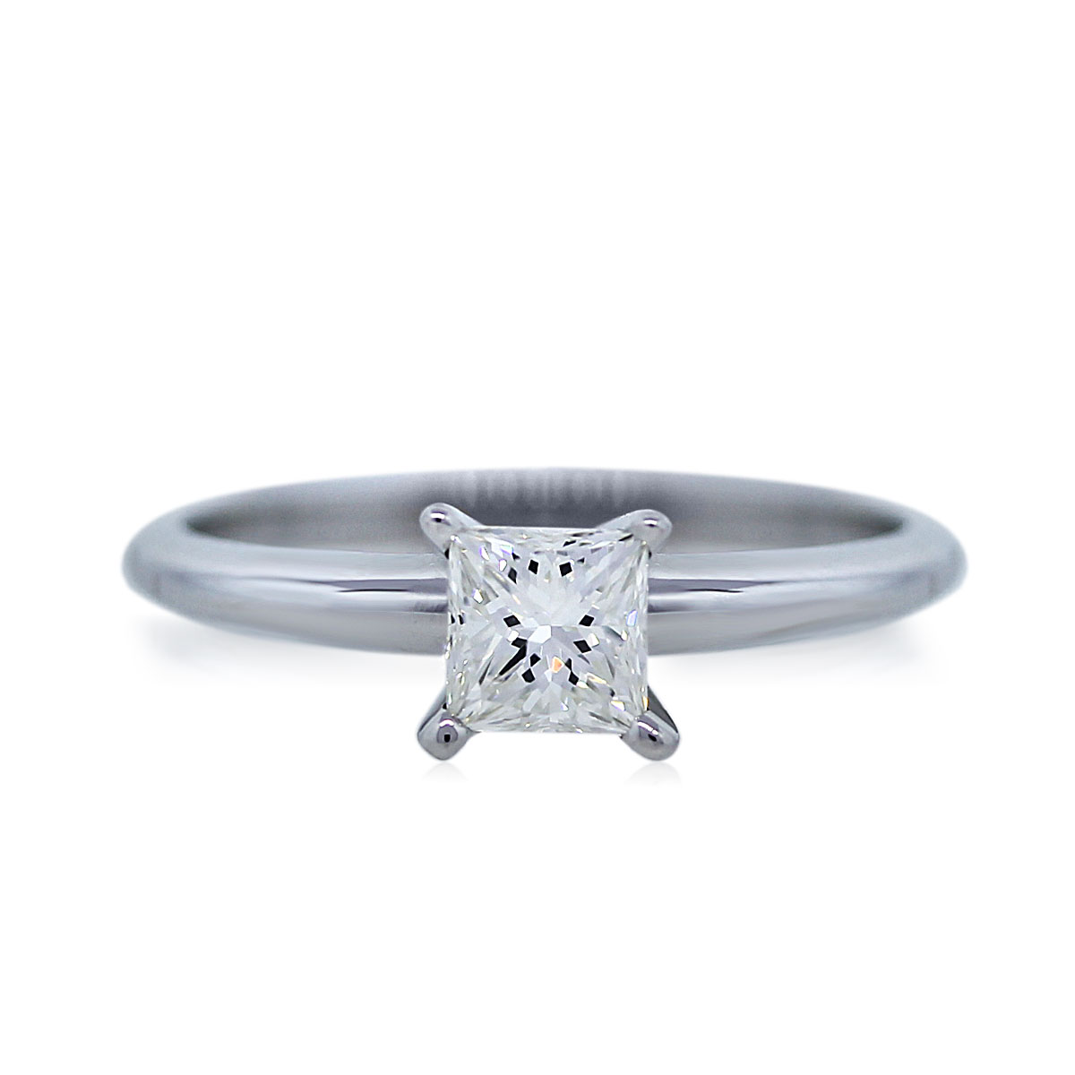 You are Viewing this White Gold 0.51ct Princess Cut Diamond Engagement Ring!