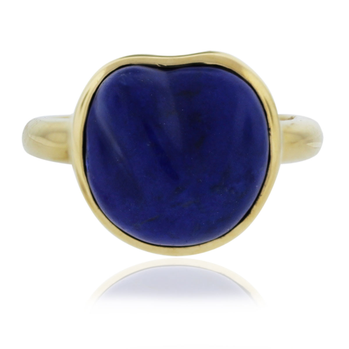 Tiffany and Co. 18kt Yellow Gold Elsa Peretti Lapis Ring