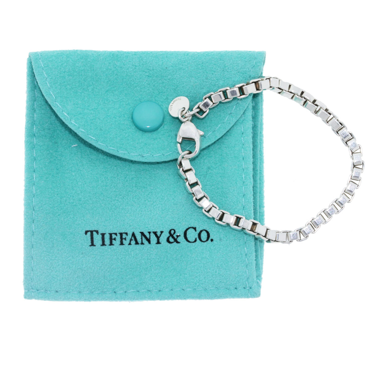 Tiffany co sterling silver venetian link bracelet for Where is tiffany and co located