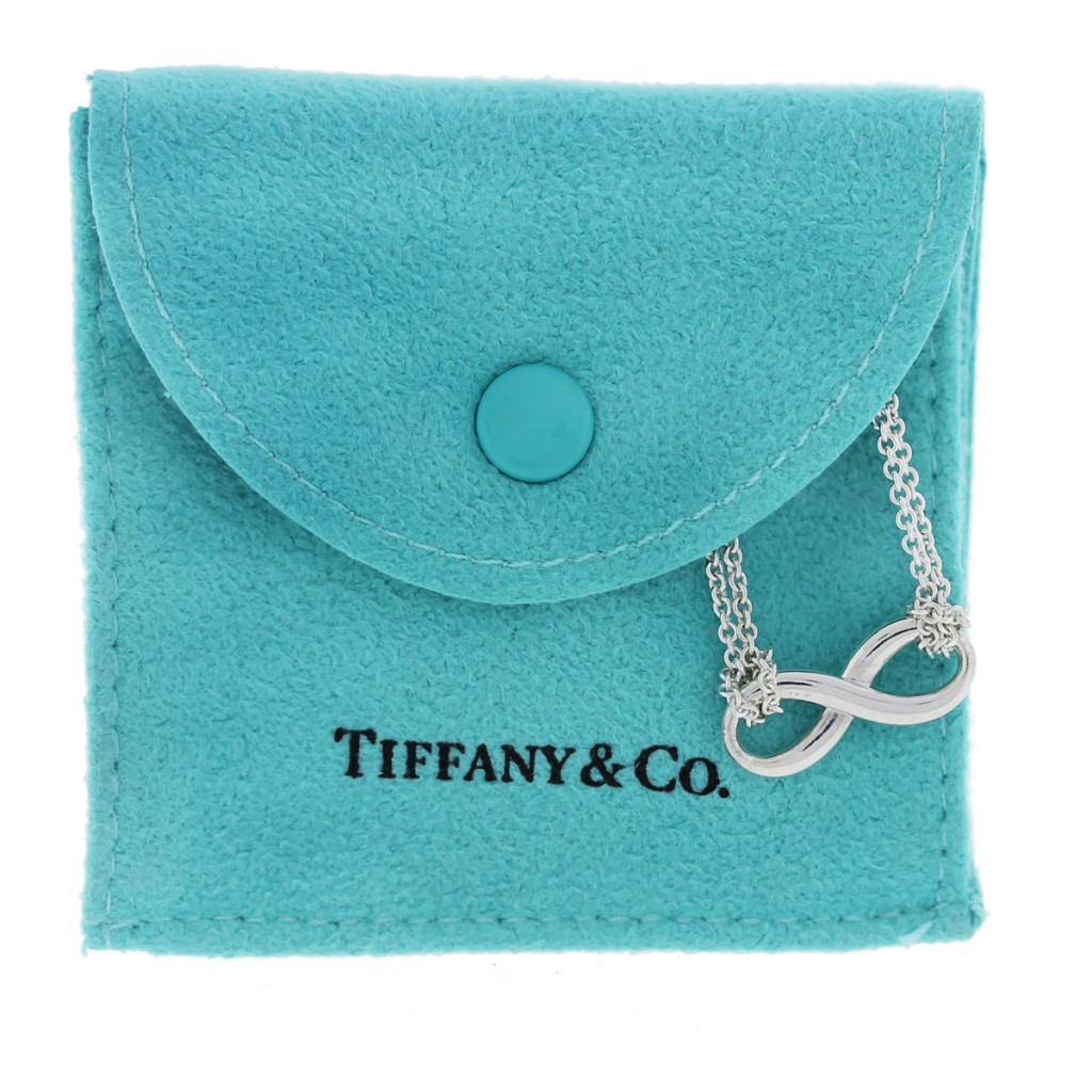 Tiffany and Co. Sterling Silver Infinity Double Chain ...