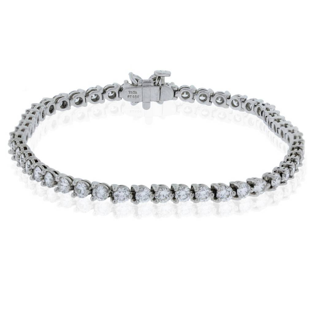 4c8cac46a Tiffany & Co. Victoria Line Platinum & Diamond Tennis Bracelet