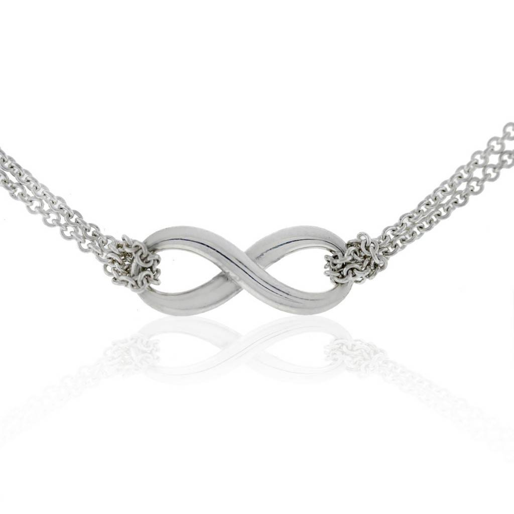 2c351dd87 Tiffany and Co. Sterling Silver Infinity Double Chain Pendant Necklace