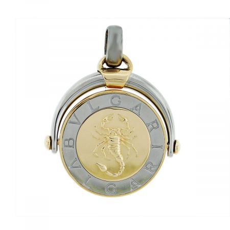 18kt Two Toned Bulgari Scorpio Pendant