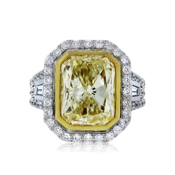 You are Viewing this 5.02ct Fancy Yellow Diamond Engagement Ring!