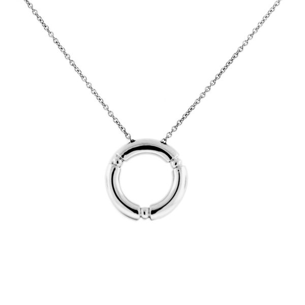 Movado Circle Diamond Necklace
