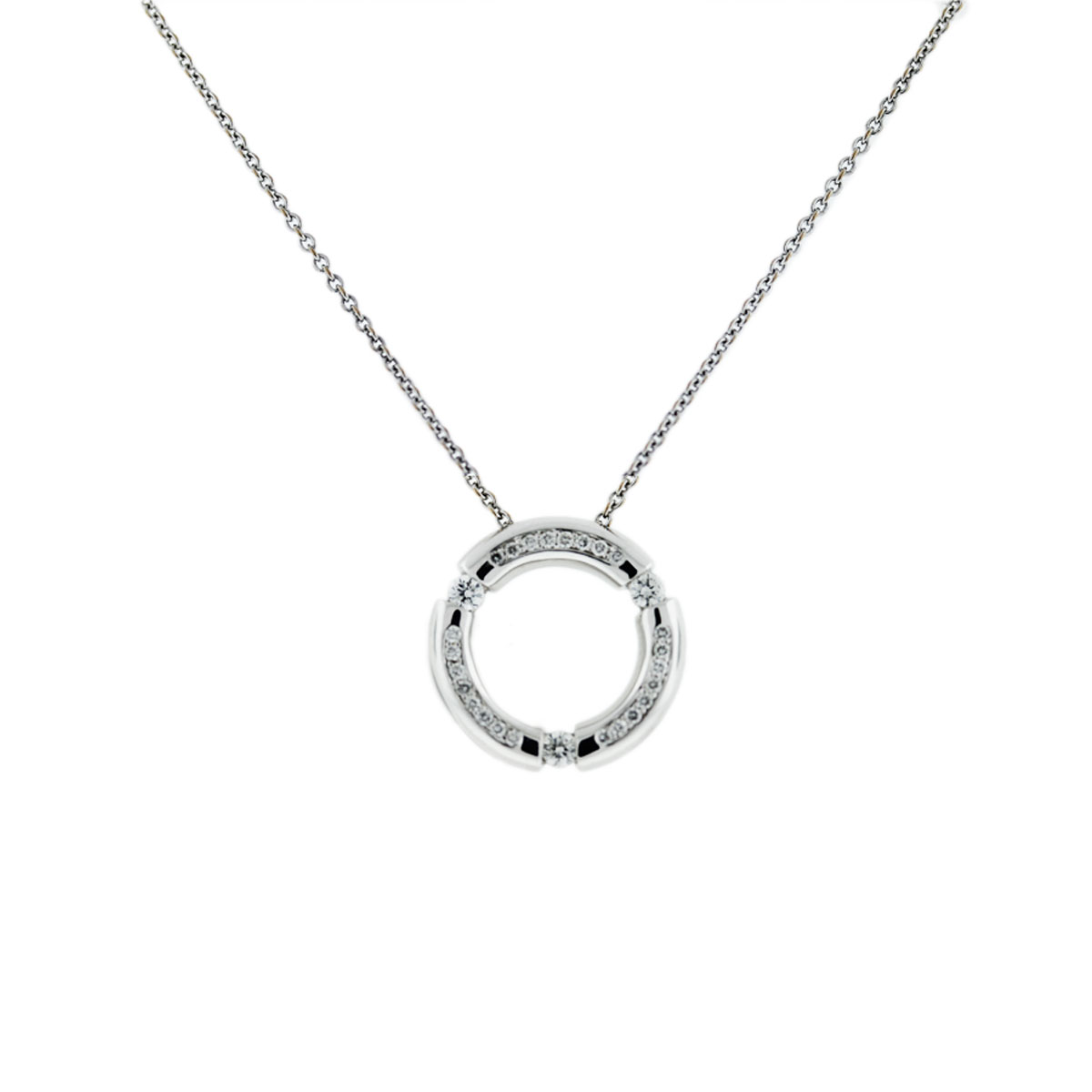 Movado .5ctw Circle Necklace