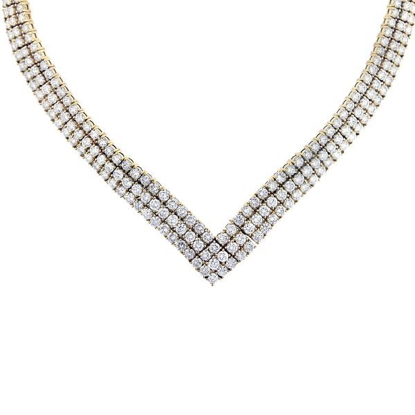 gold and diamond collar necklace