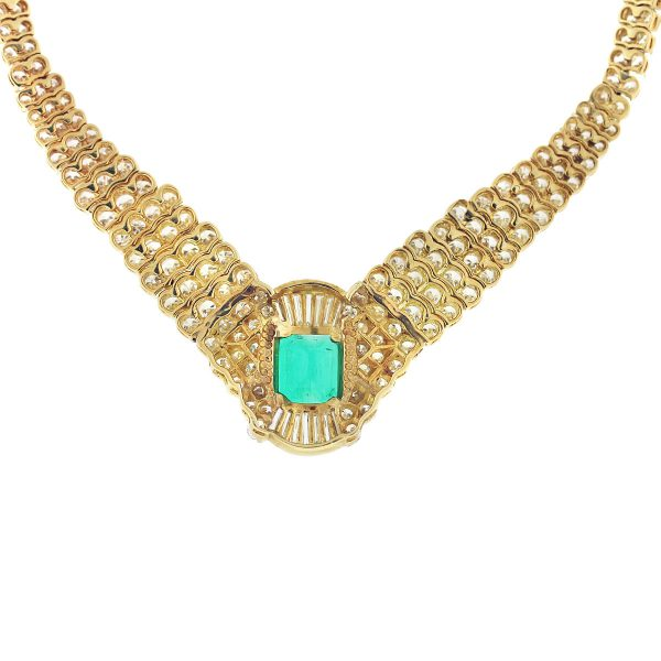 gold emerald necklace