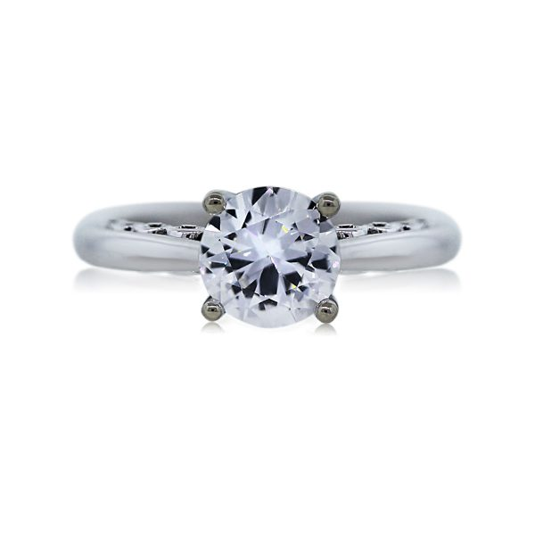You are Viewing this Stunning 1.01ct Round Diamond Engagement Ring