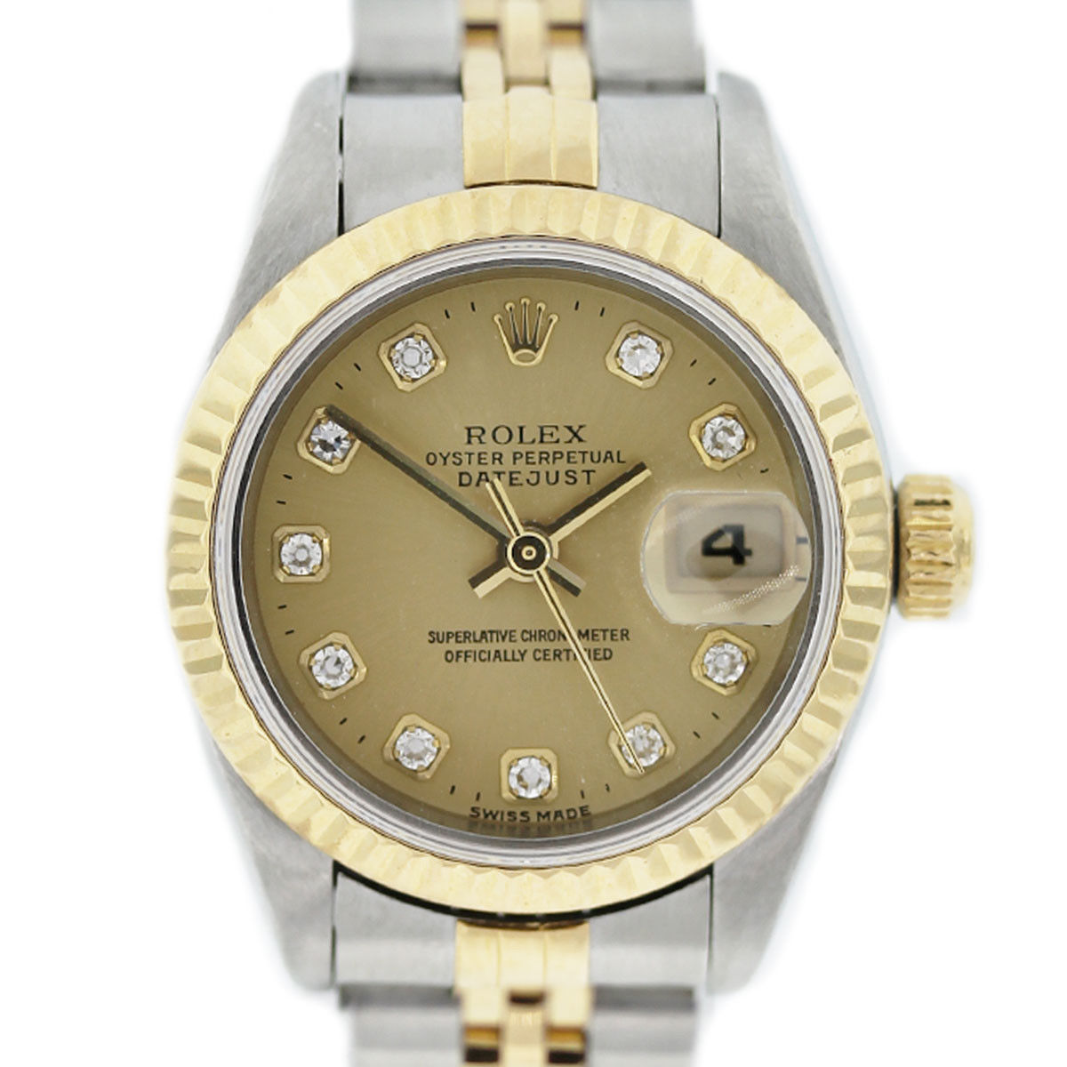 You are viewing this Two Tone Rolex Datejust 691731 Diamond Champagne Dial Watch!