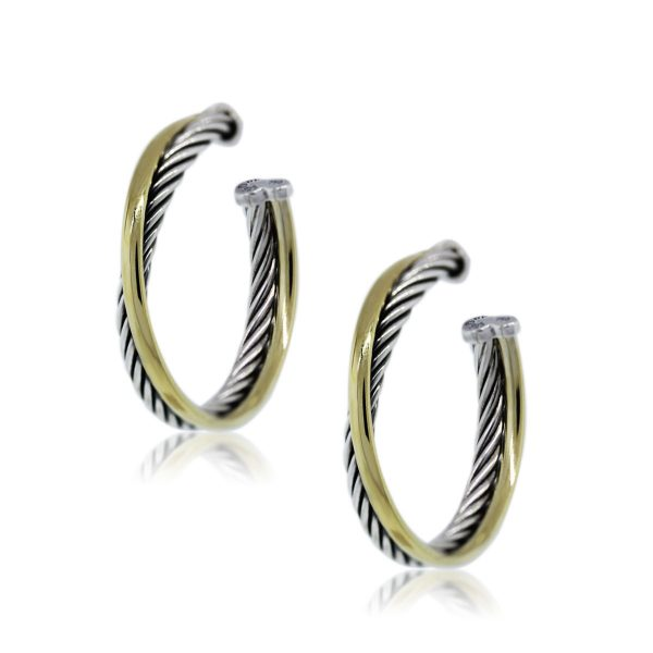 You Are now viewing David Yurman Crossover Hoop Earrings!