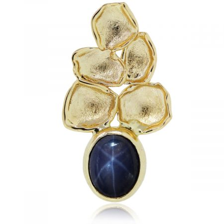 You are viewing this yellow gold star sapphire pendant!