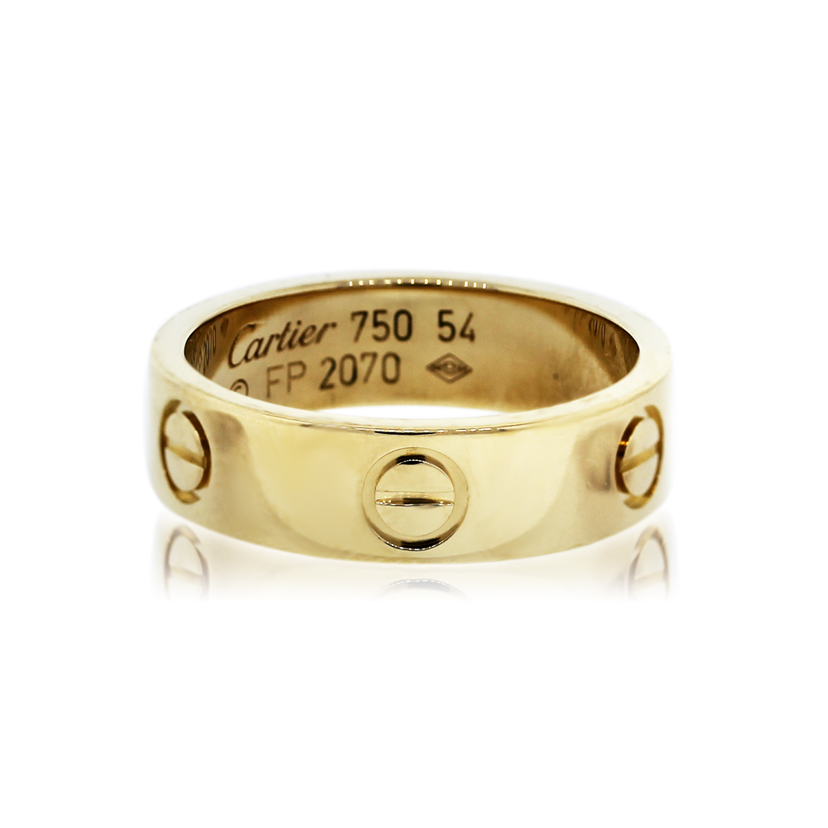 You are Viewing this Yellow Gold Cartier Love Ring!