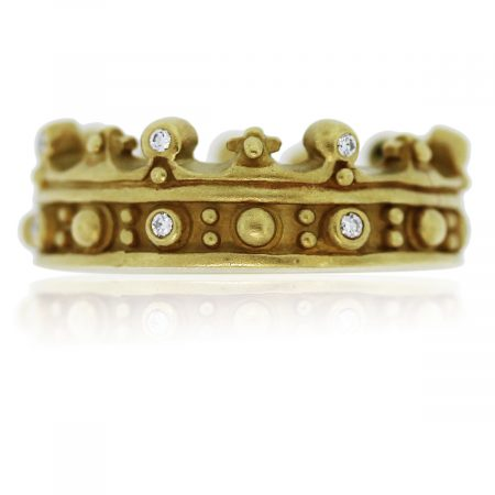 You are viewing this Kieselstein Yellow Gold Crown Ring!