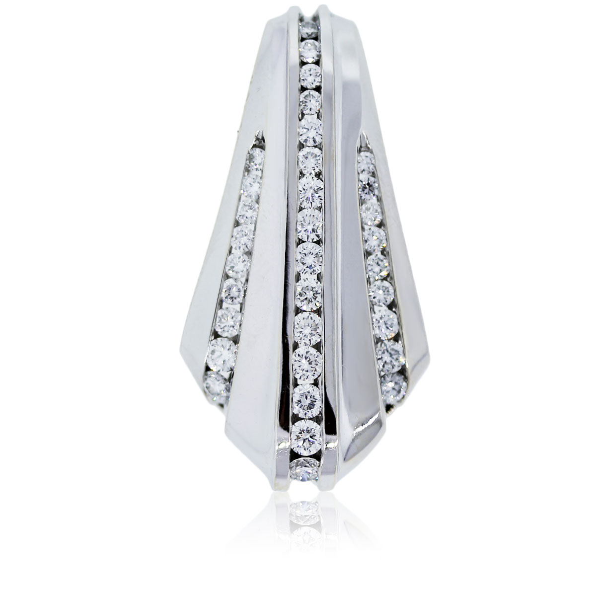 You are viewing this white gold diamond slide pendant!