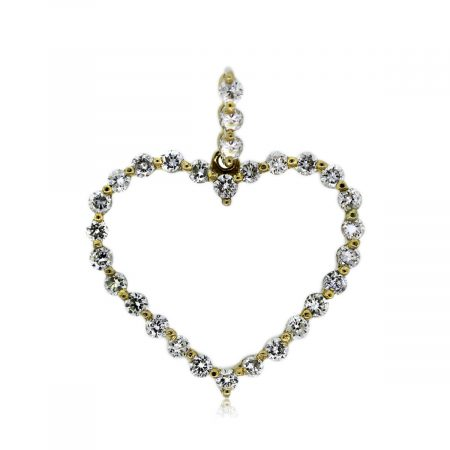 You are Viewing this 18k Yellow Gold 0.56ctw Diamond Heart Pendant!