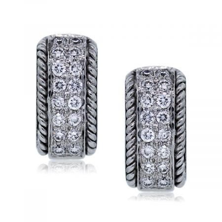 You are Viewing these Diamond Huggie Earrings!