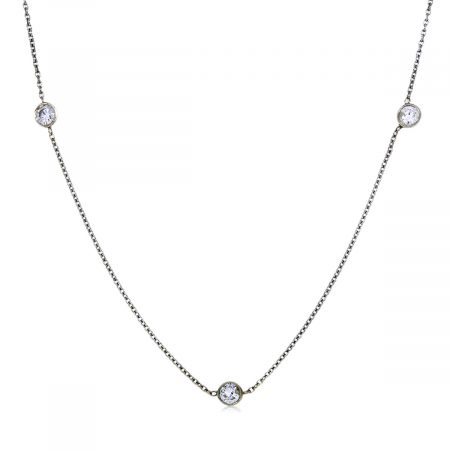 You are viewing this 14'' diamonds by the yard necklace!!!
