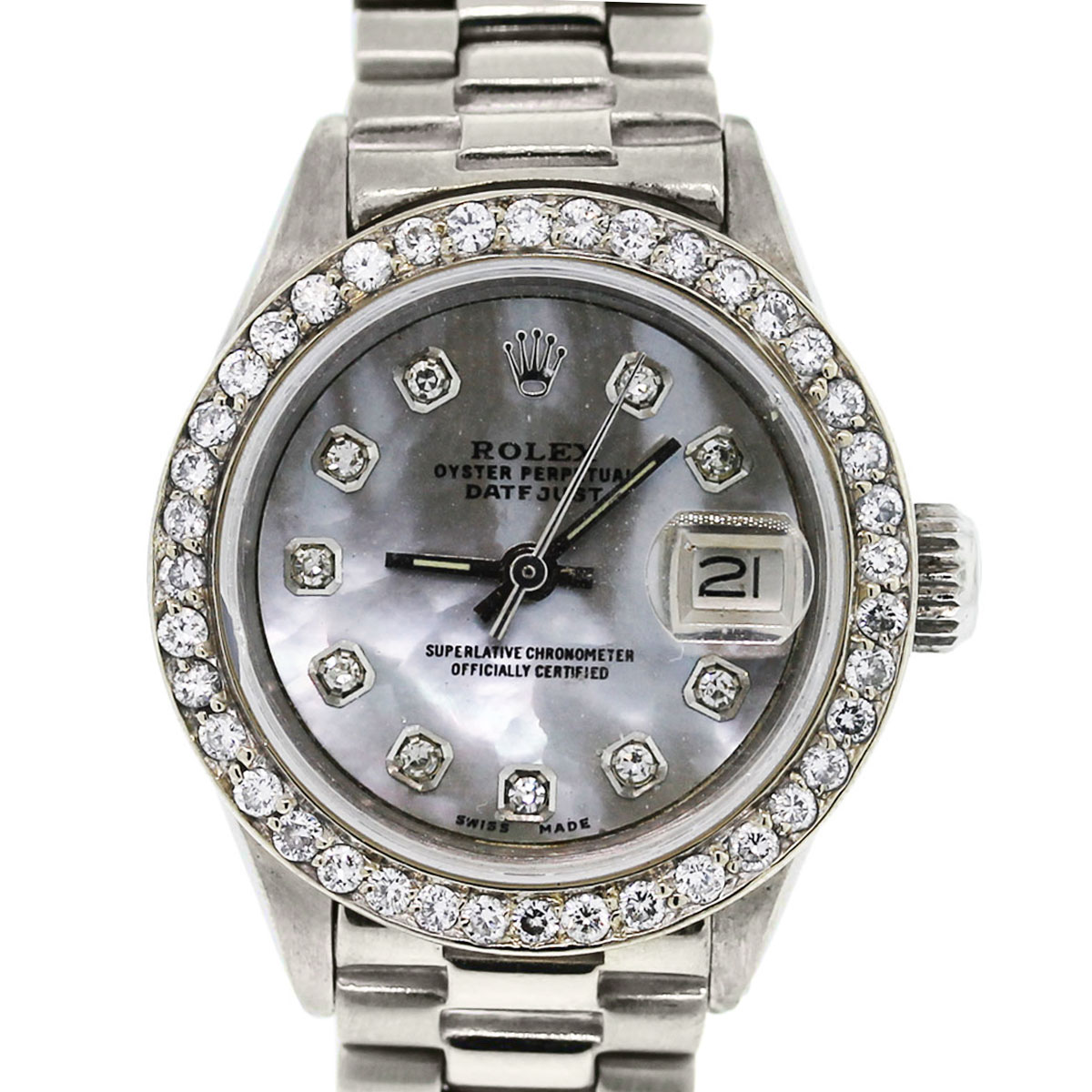 You are viewing this Rolex Diamond Mother of Pearl Watch!
