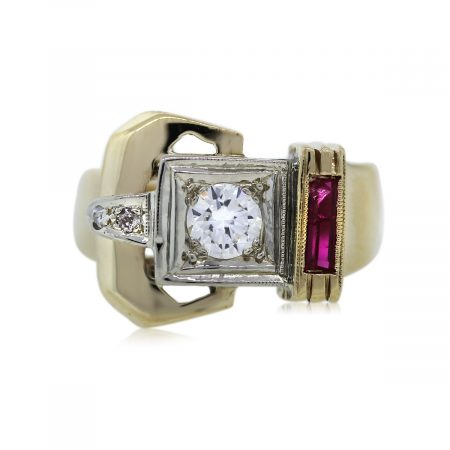 You are Viewing this Stunning Diamond and Ruby Ring