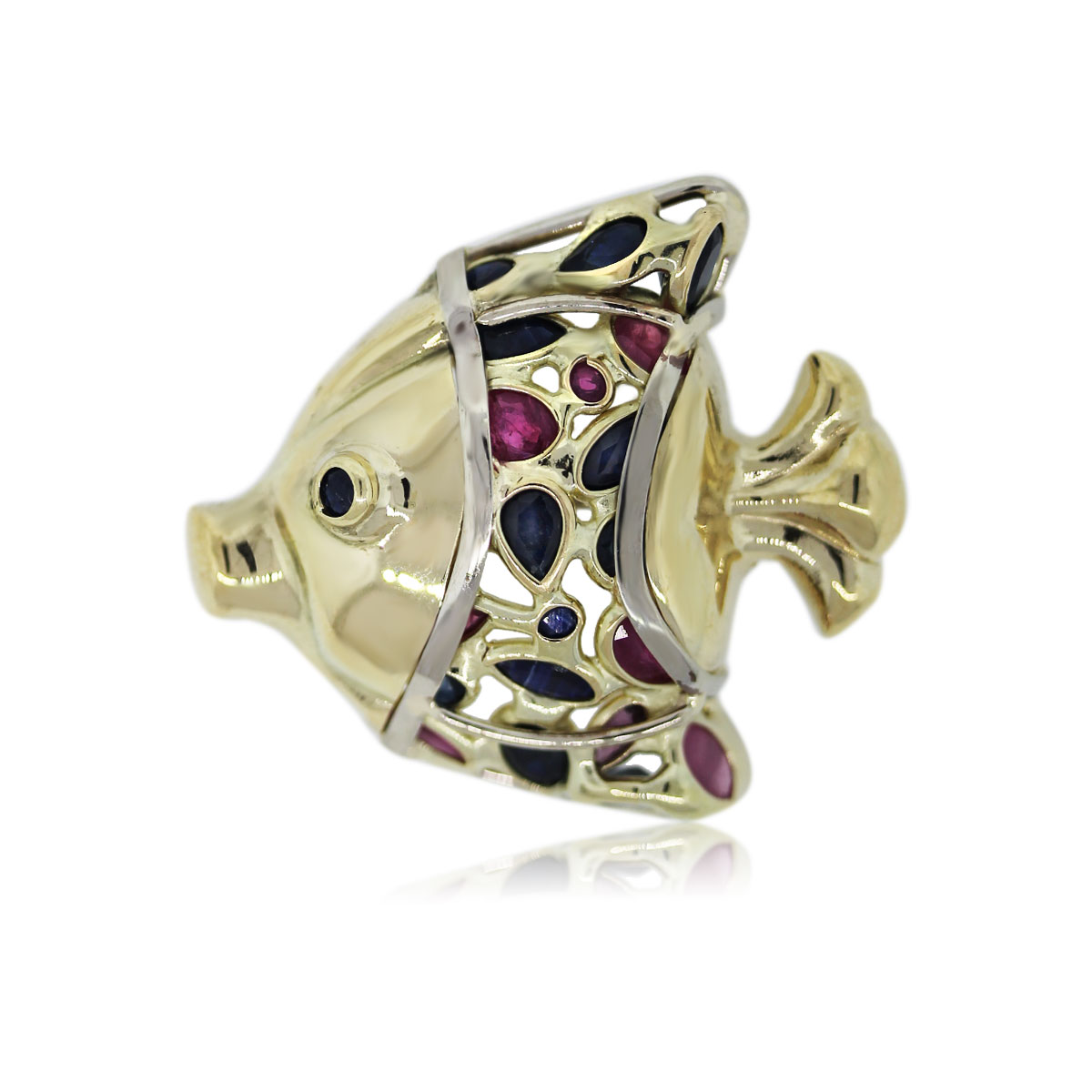 Look at This Chiq Sapphire and Ruby Pin!