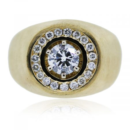 You are viewing this Yellow Gold Men's Diamond Ring!