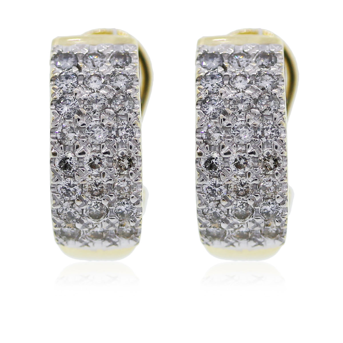 You are viewing these yellow gold diamond huggie earrings!!