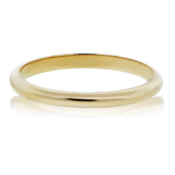 You are viewing this Yellow Gold Wedding Band!