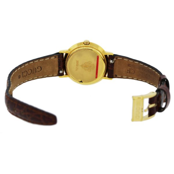 Gucci Gold Watch with Leather Band