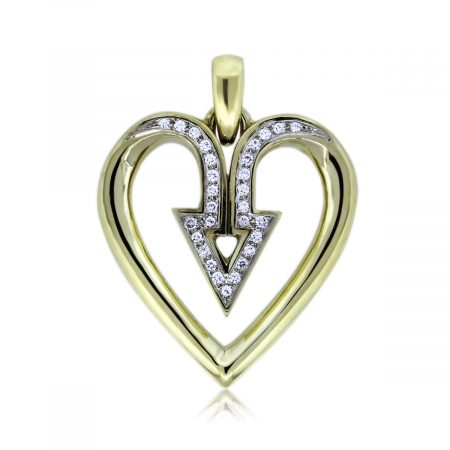 You are Viewing this Diamond Slide Heart Pendant!