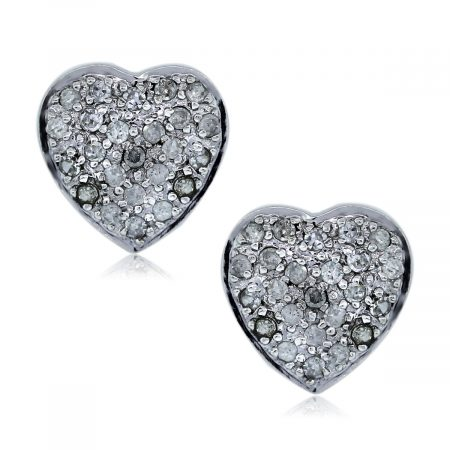 You Are Viewing these Gold and Diamond Heart Shaped Earrings!