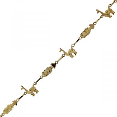 You are viewing this yellow gold inca design vintage bracelet!