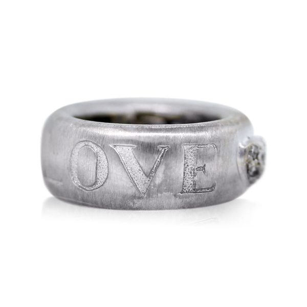 You are Viewing this Pave Set Heart Diamond Band Ring