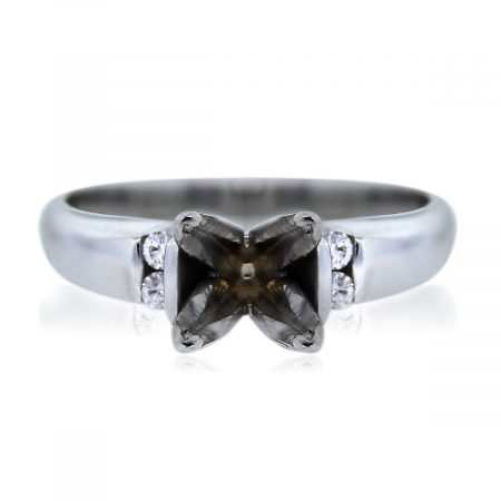 You are Viewing this 14k White Gold Diamond Semi Mounting!