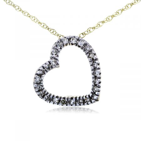You are Viewing this Stunnig Diamond Heart Pendant on Chain!